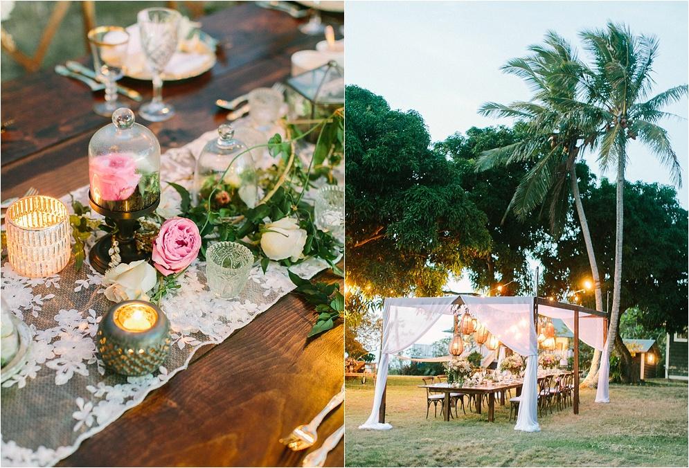 Unique outdoor wedding reception