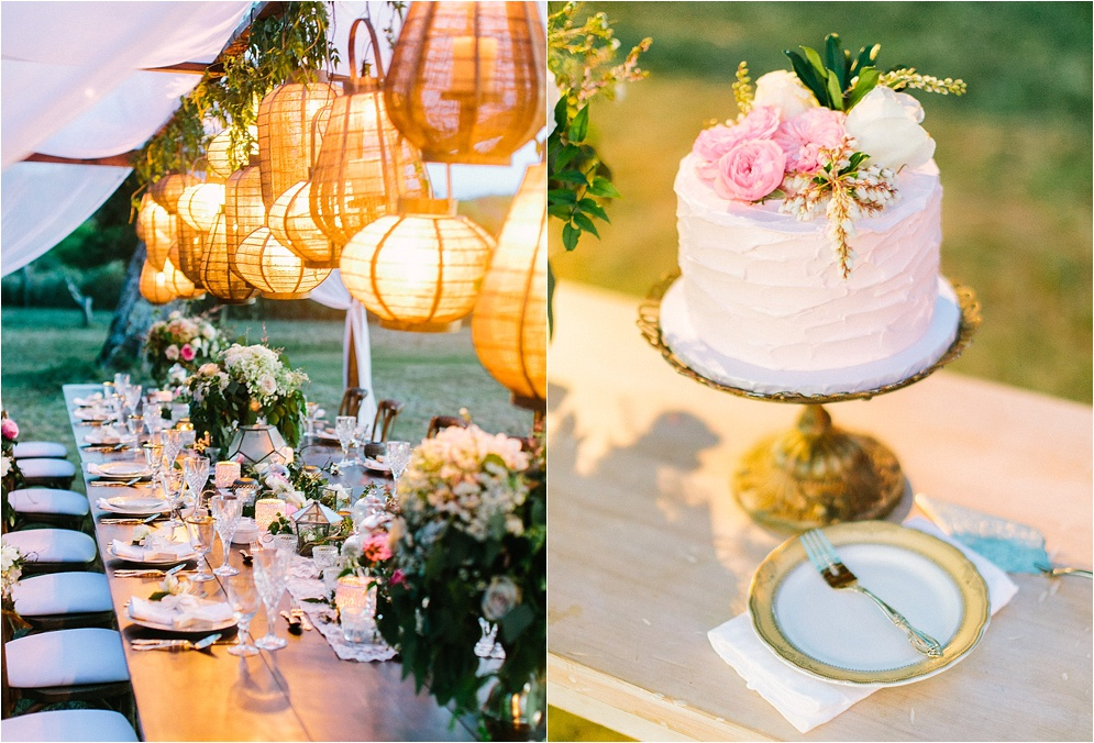 Pink White Wedding Pictures