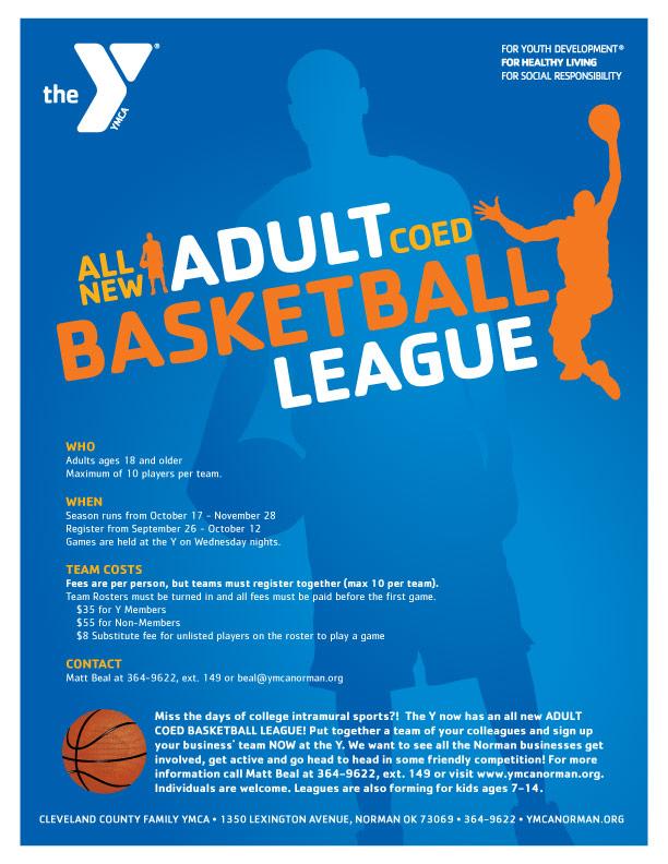 CCFYMCA Adult Basketball League Layout