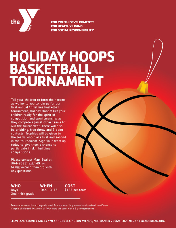 CCFYMCA Holiday Hoops Tournament Layout