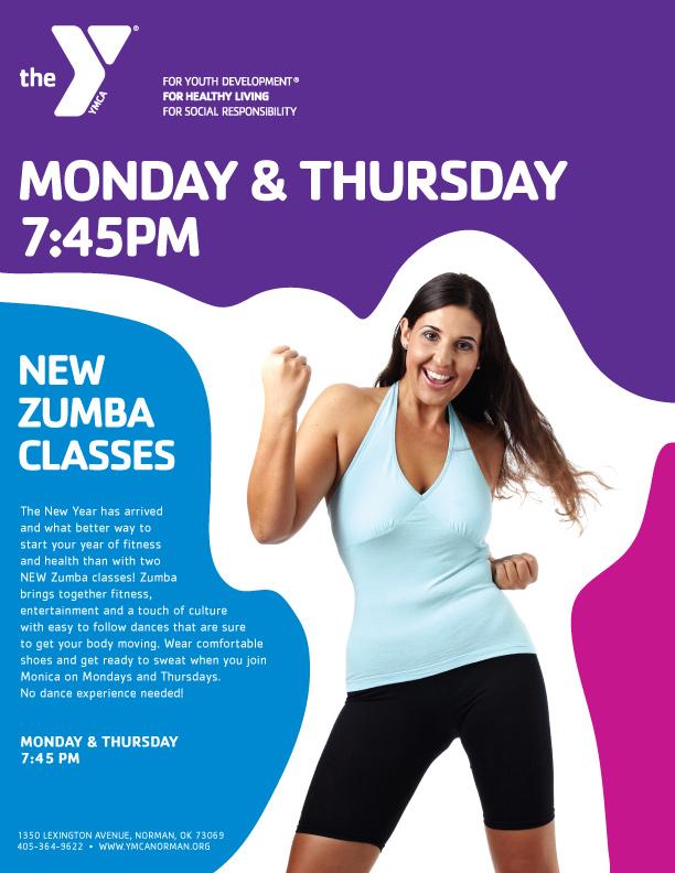 CCFYMCA Zumba Classes Layout