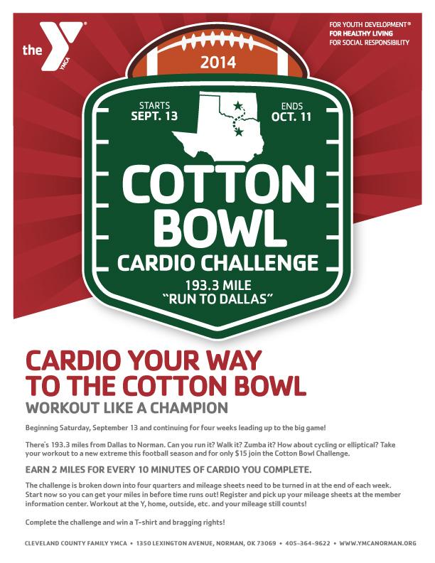 CCFYMCA Cotton Bowl Cardio Challenge Layout