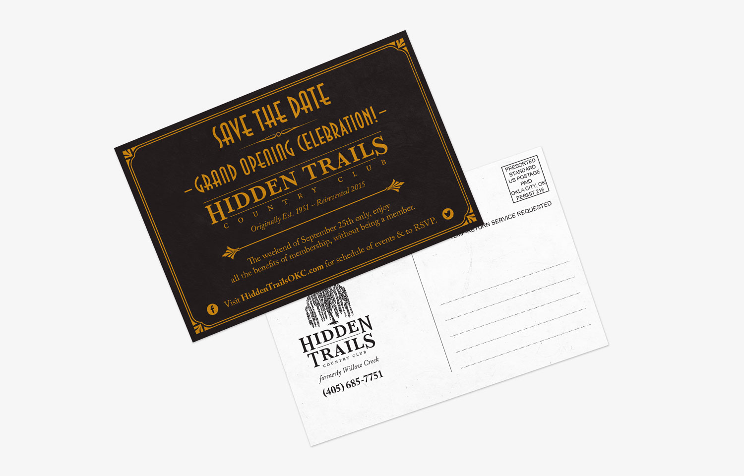 Hidden Trails Save the Date Post Card