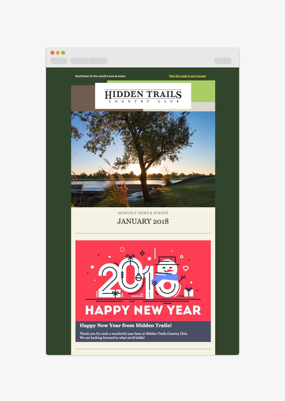 Hidden Trails Holiday Logos