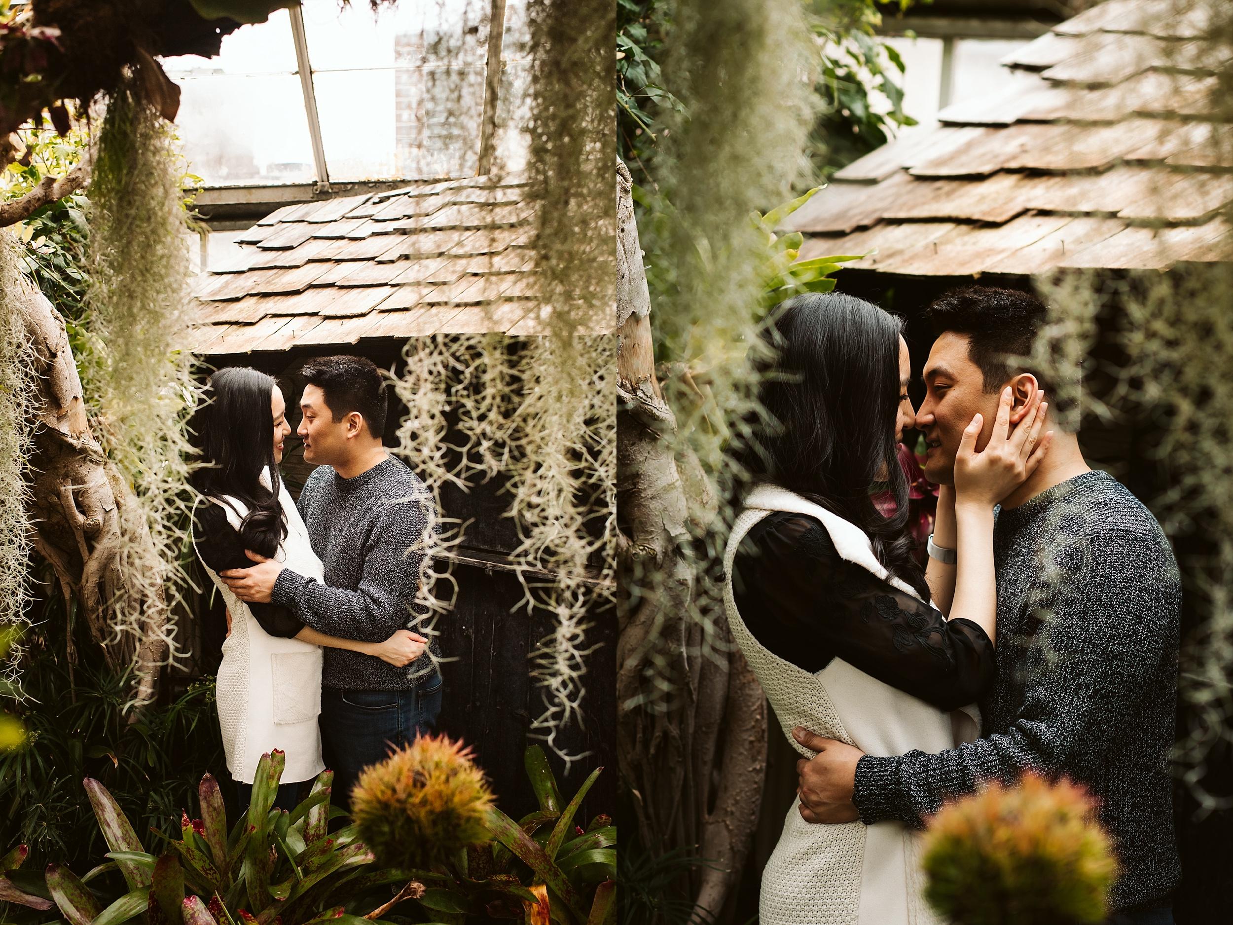 Allan Gardens Conservatory Engagement shoot   Louisa & Peter