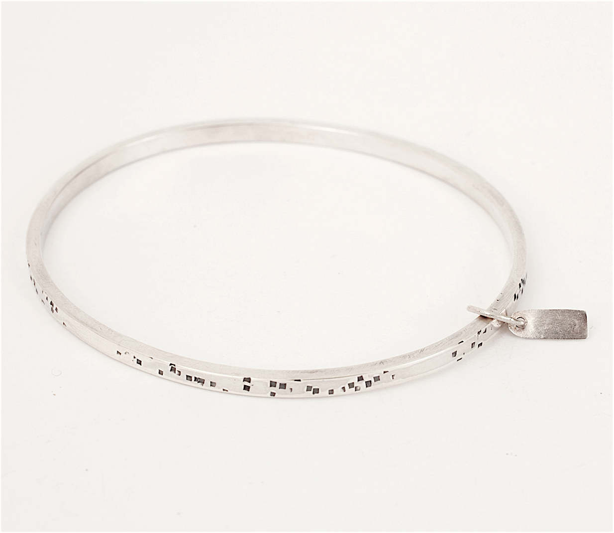 Sterling silver textured Bangle, available in all sizes   £155