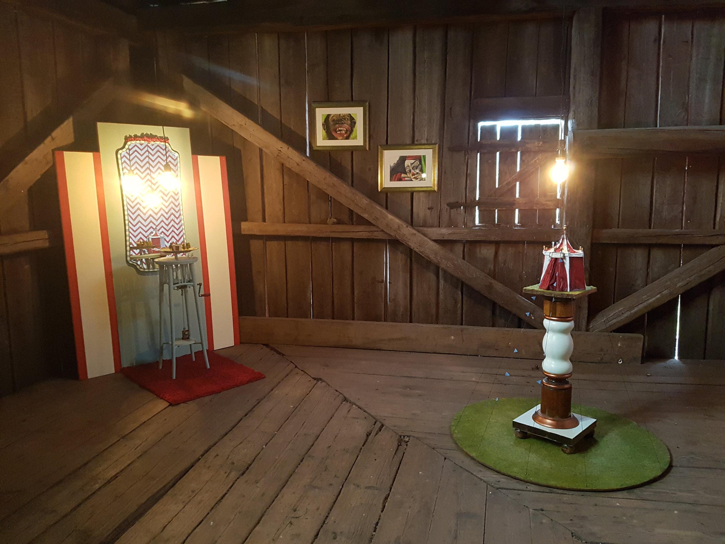 Konst runt Möckeln - Soloutställning Granbergsdals hytta, 2017