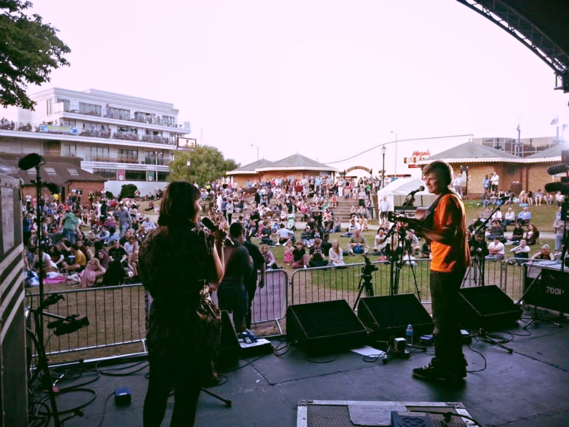 Presenting the BBC Introducing Stage at the SO Festival in Skegness, 2013