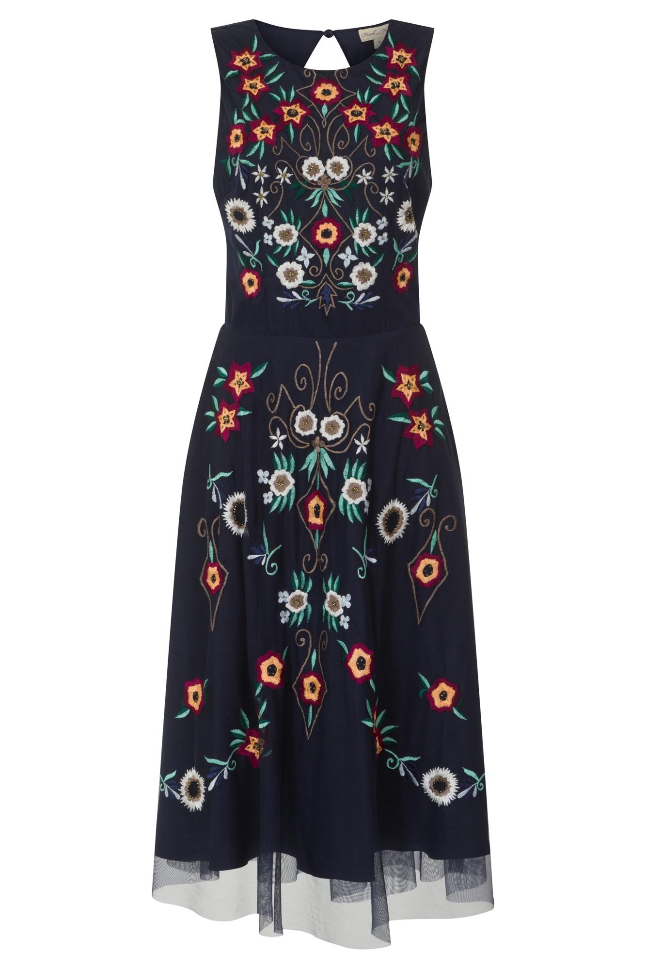 Aylen Embroidered Skater Dress (Frock & Frill)