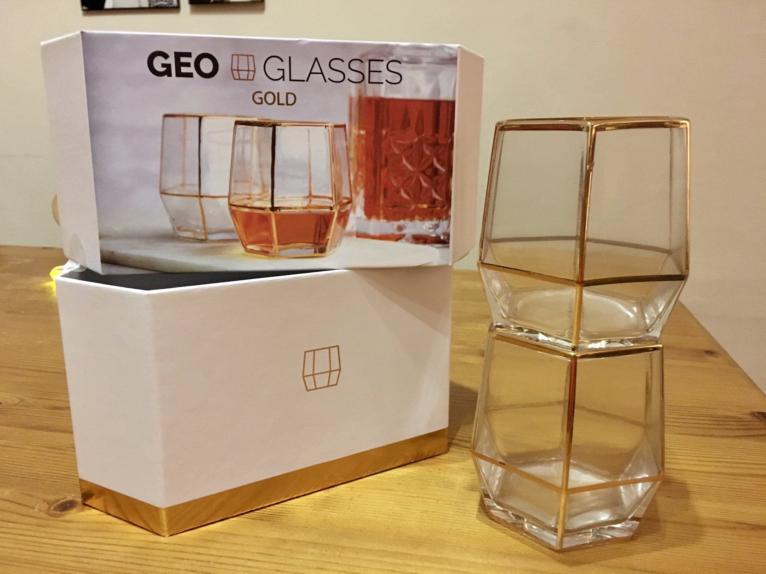 I love that the Geo Glasses are stackable