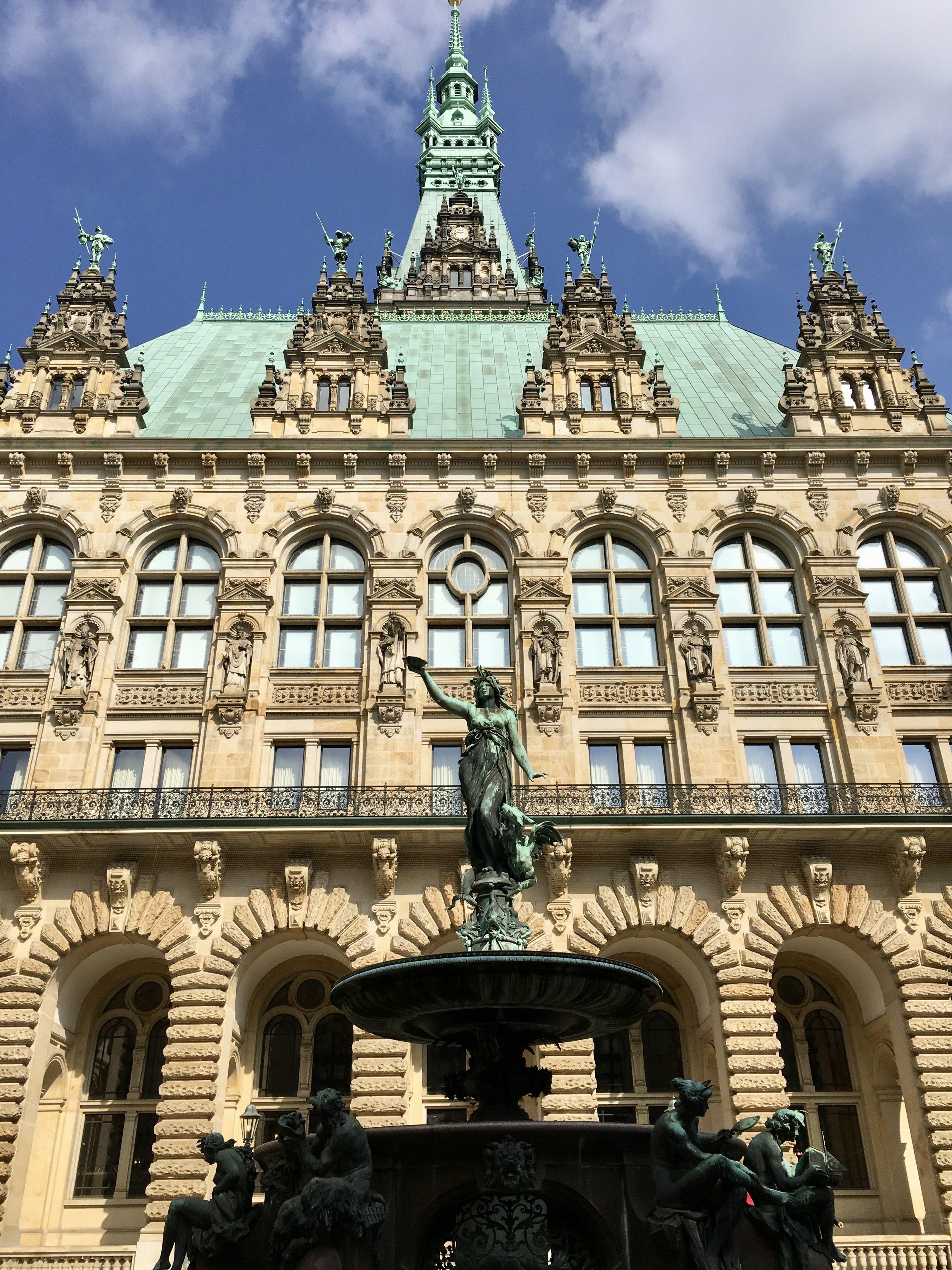 The impressive Rathaus, or City Hall