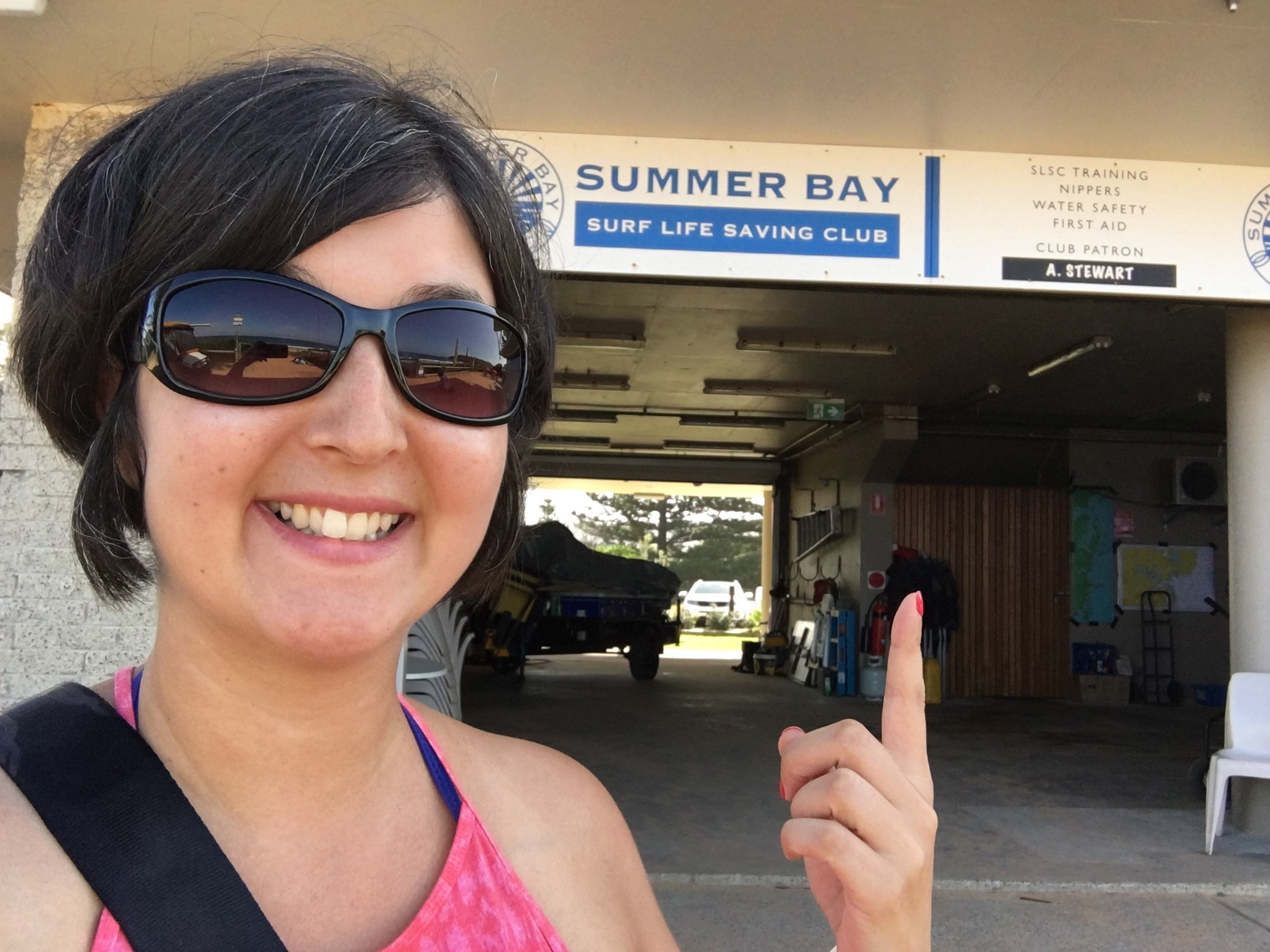 Geeking out at Summer Bay (Palm Beach)