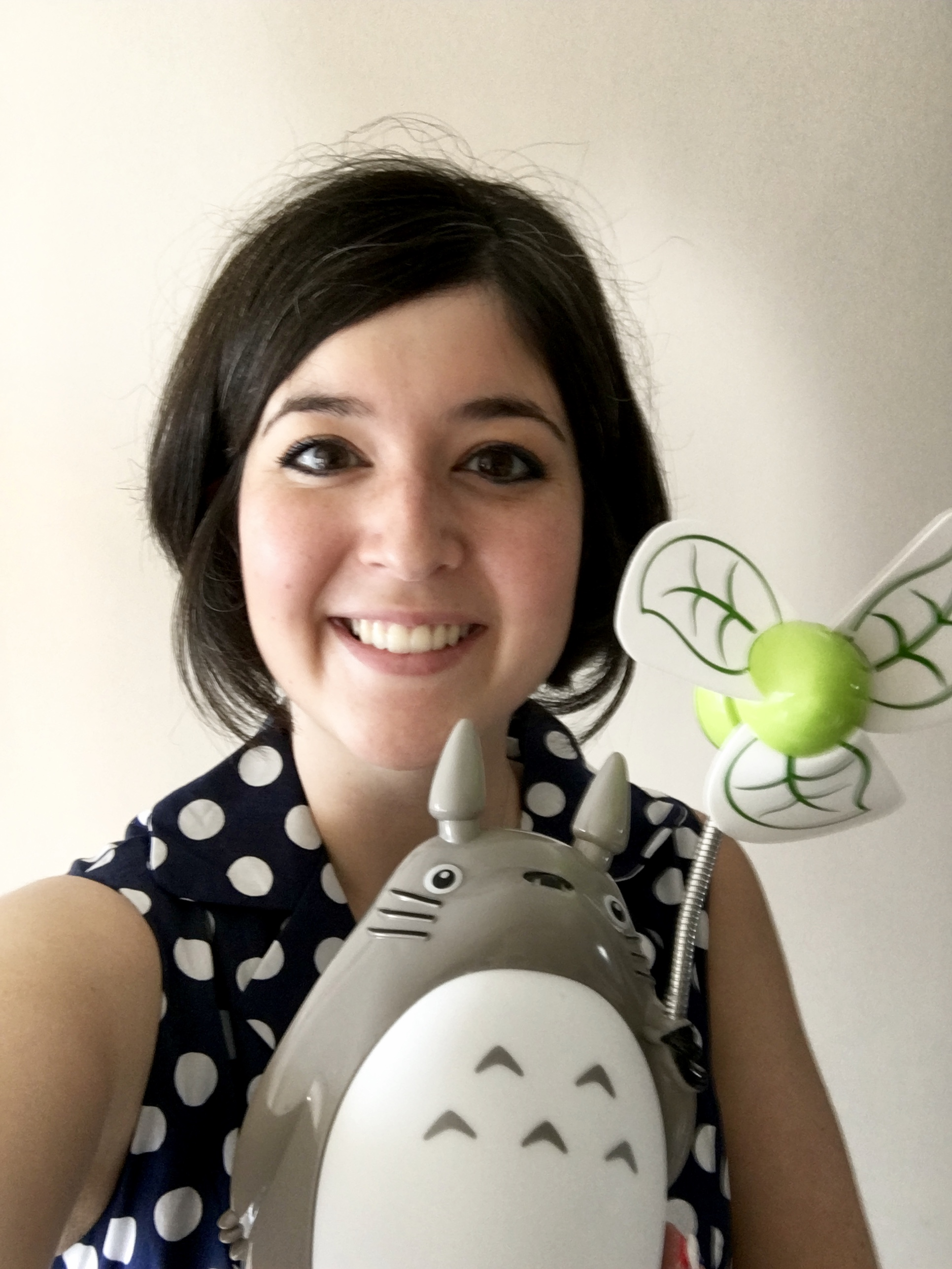Last year's birthday in HK - best gift ever - a Totoro lamp and fan!