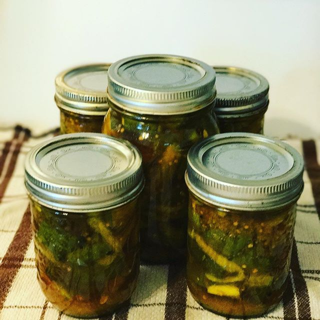 New recipe with our #cucumbers #currypickles #novascotia  #pickling