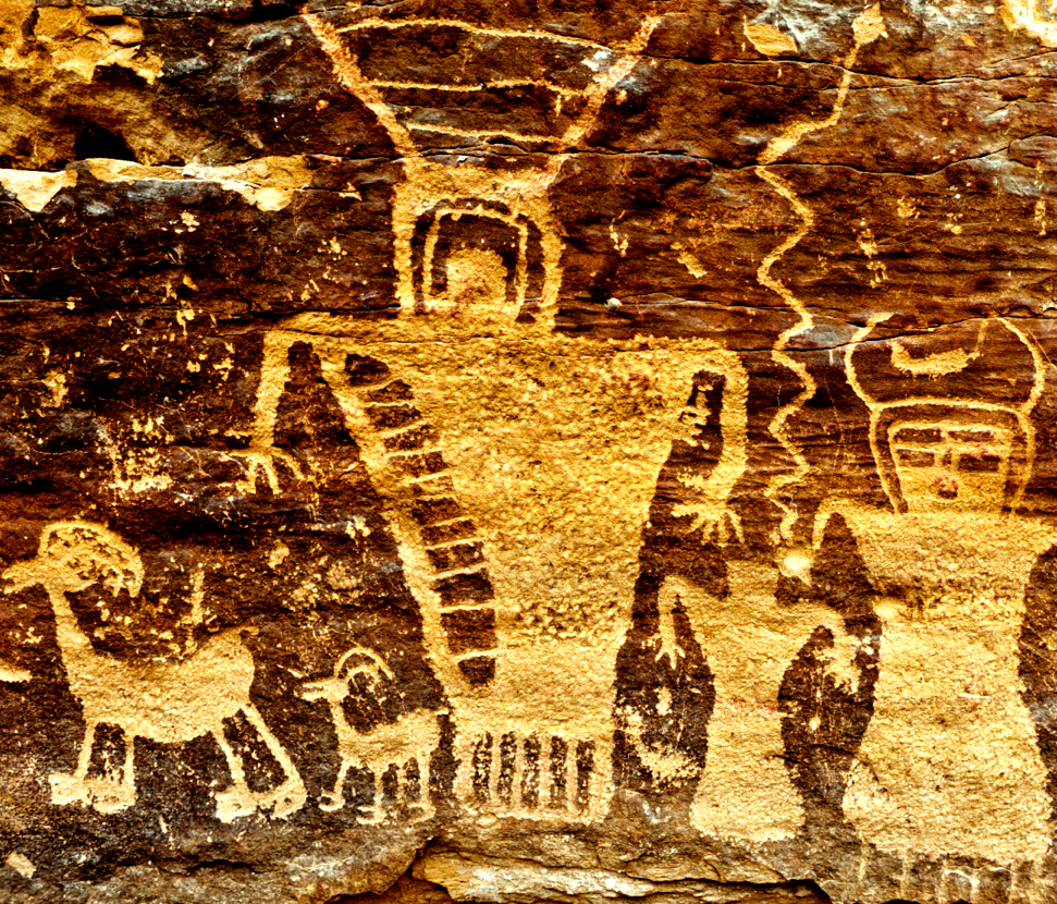 Several variations on a theme: figures displayed to show relationships or actions on a single plane. Stan Strembicki,  Fremont Petroglyphs , Nine Mile Canyon, Utah. 2011. Photographed by my friend and colleague  Stan Strembicki  a few years back on a documentary expedition (for my book Stick Figures). He climbed up on a ledge to shoot this one, just as I was beginning to figure out that you can drive  into  Nine Mile Canyon, but you can't drive  out  the other end. Big bummer.