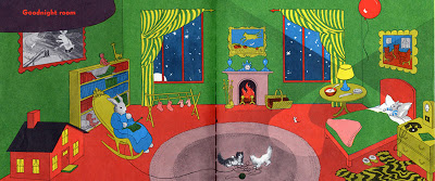 Clement Hurd, an early spread from Goodnight Moon , 1947.