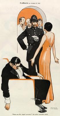 T.D Skidmore, fiction illustration inCollier's, October 17, 1931