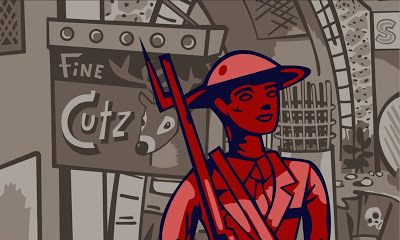 Dowd, Ulcer City, animation still from  The Doughboy , 2004