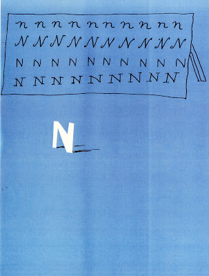 "David Hockney, ""The Letter N"" from  Hockney's Alphabet , published in 1991 by Random House in association with the American Friends of the Aids Crisis Trust"