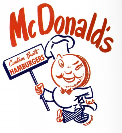 Designer uncredited,  McDonald's Custom Built Hamburgers , design for paper cup, 1957 (?)