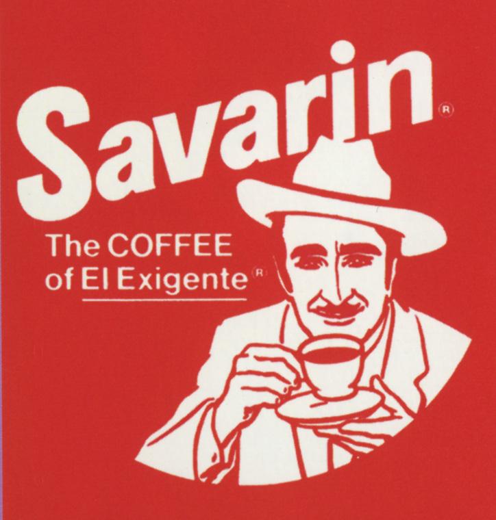 Unattributed,El Exigente, the choosy coffee buyer, packaging illustration for Savarin Coffee, c.1977