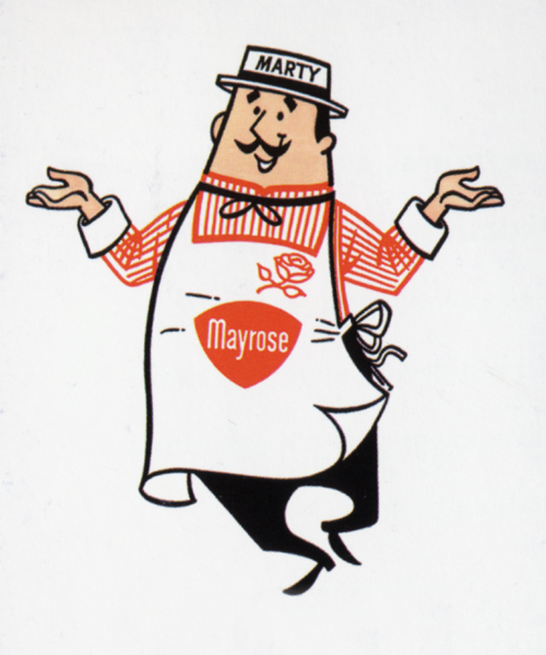 Designer unknown, Marty Mayrose advertising character for Mayrose Meats, circa 1967