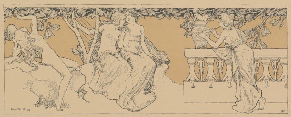 Karel Spillar, Music, Poetry, Painting inGerlach's  Allegorien , 1898