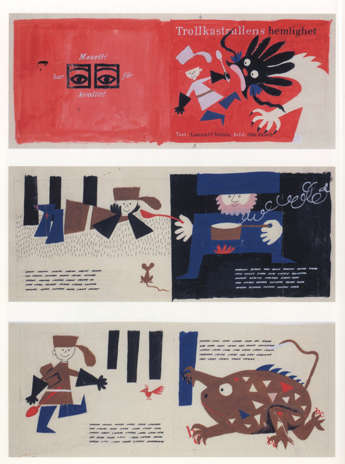 Olle Eksell, children's book design comps, 1958