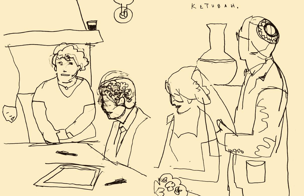 Dowd,  The Ketubah.   Sketchbook drawing. 2012.