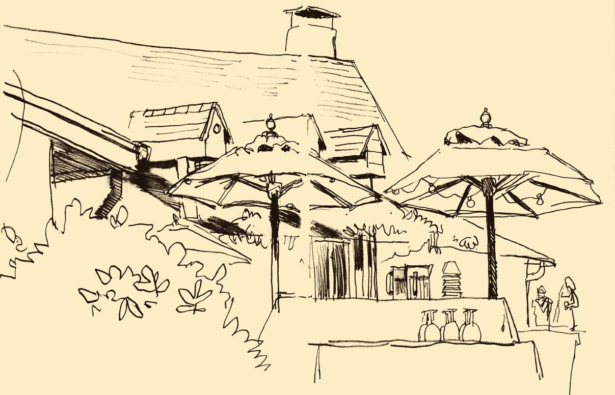 Dowd,  Setting .  Sketchbook drawing. 2012.