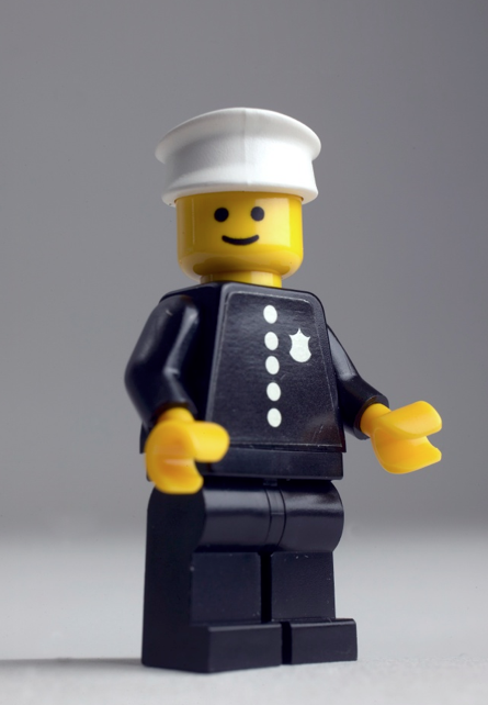 A Lego policeman, reminding us the range is broader than we imagine.