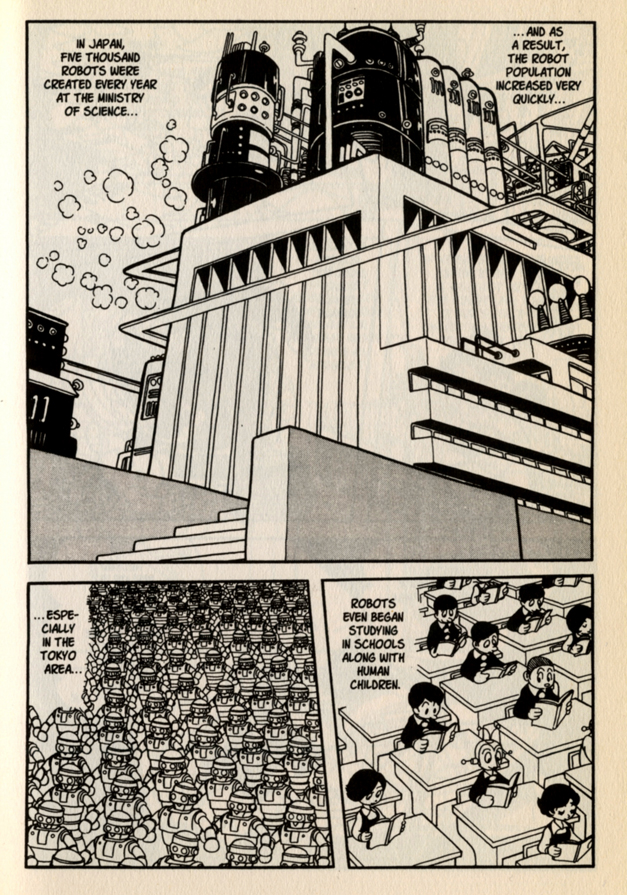 """Osamu Tezuka, Astro Boy No. 1, by Osamu Tezuka.Mighty Atom (Astro Boy to American audiences) was created in the 1950s. The creation myth, """"The Birth of Astro Boy"""" was a later addition by Tezuka.English edition published by Dark Horse Comics, 2002"""