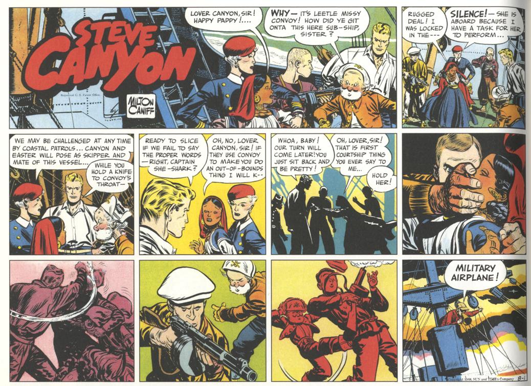 Milton Caniff, Steve Canyon Sunday strip, August 1, 1948
