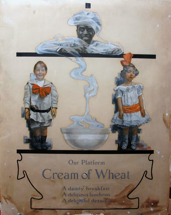 Harry Stacy Benton, painting for Cream of Wheat advertisement, 1908
