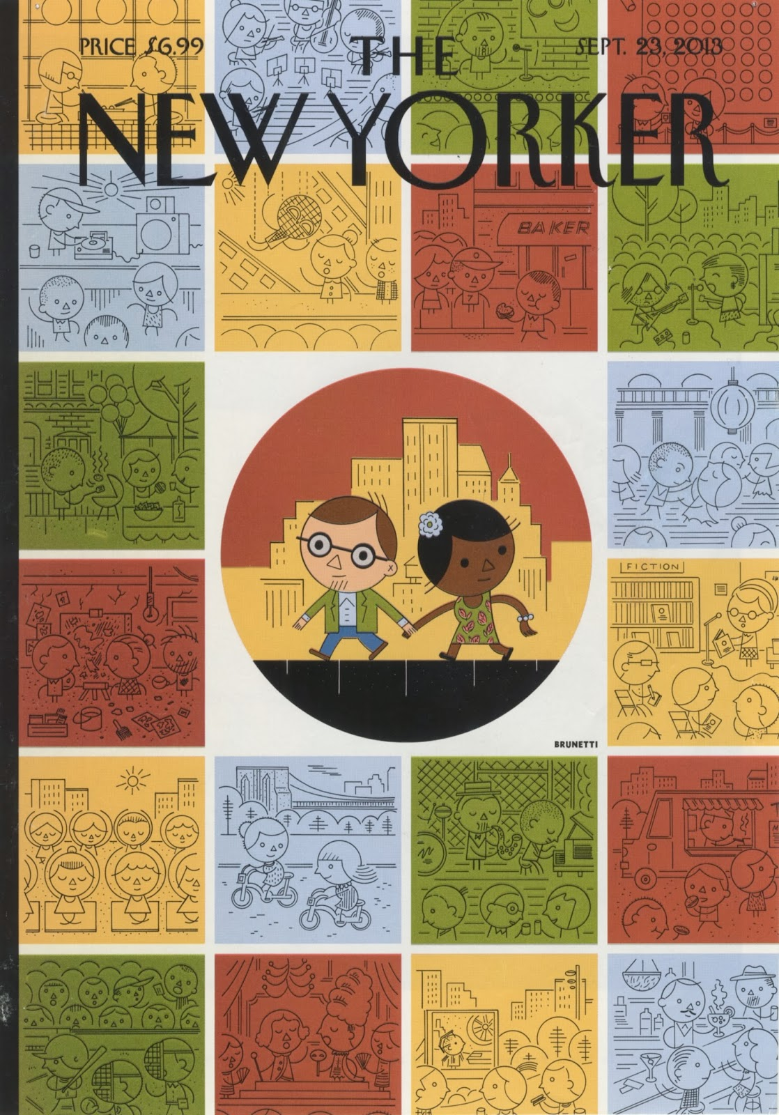 Ivan Brunetti,  Goings On Around Town , New Yorker cover, September 23, 2013