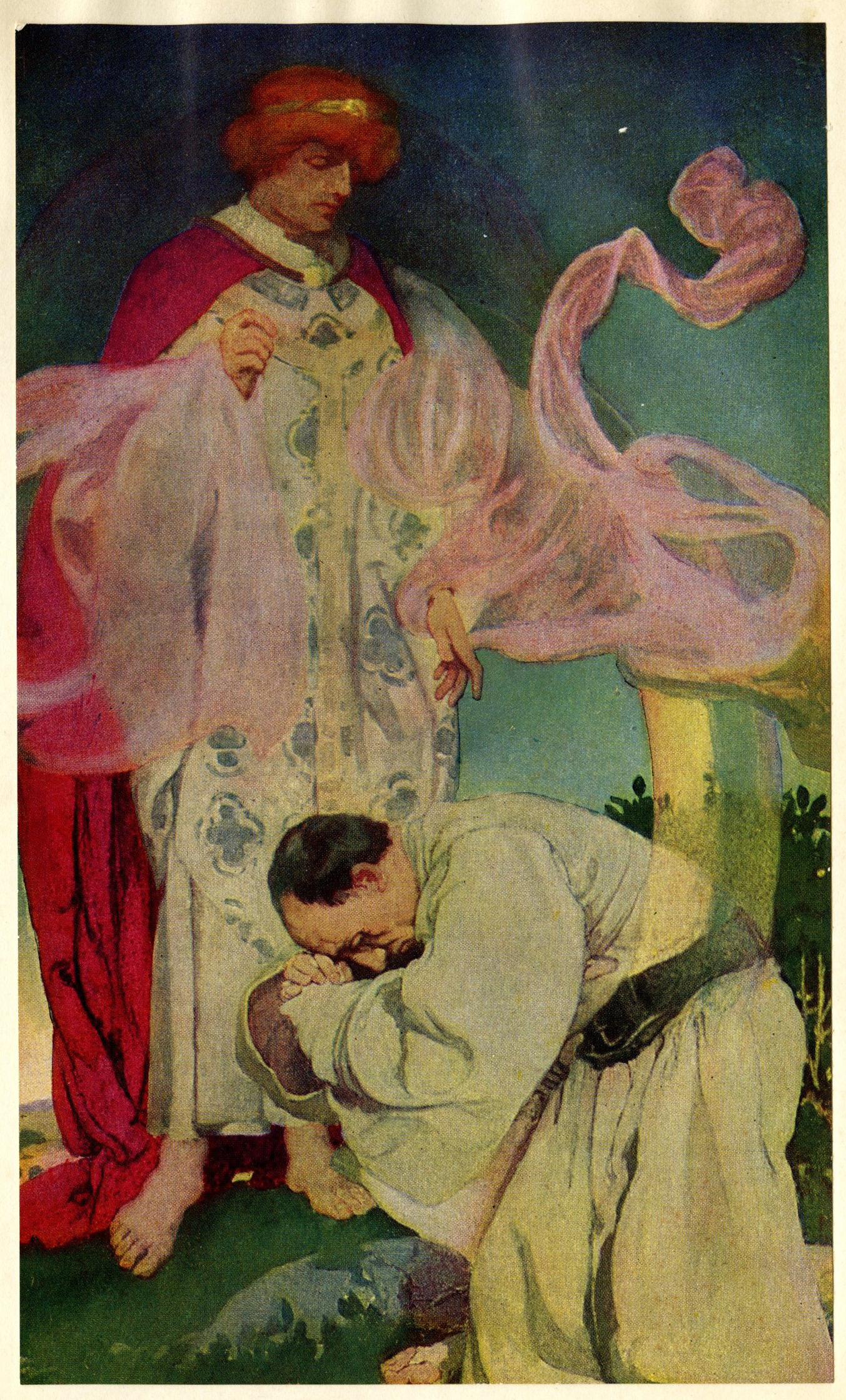Elizabeth Shippen Green,   But how have I failed so wretchedly.  Lovely little bit of pink waft, no? Who  is  that?