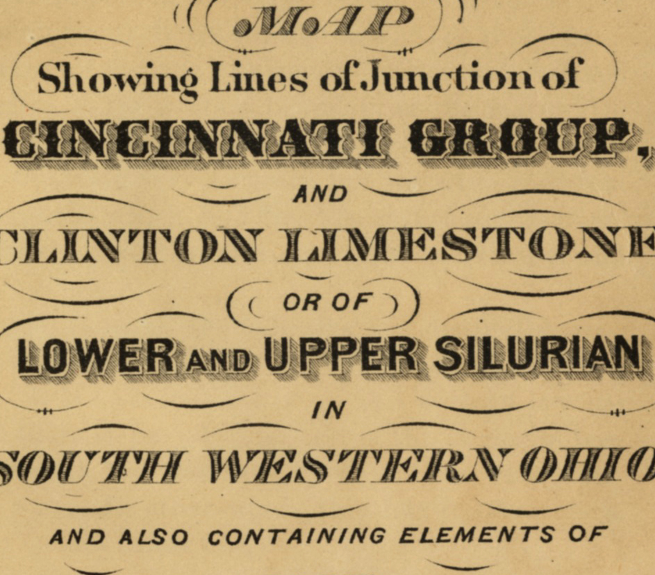 Detail of period hand-lettering.
