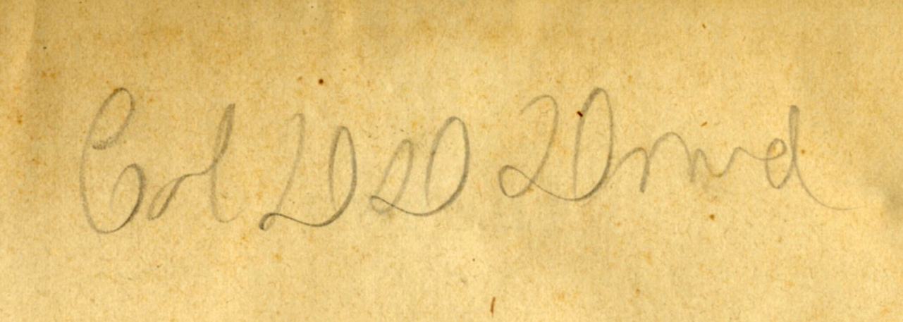Inscription signature, Colonel D. D. Dowd, in the leaf of a family copy of  The Geological Survey of Ohio . 1873. My father's namesake.