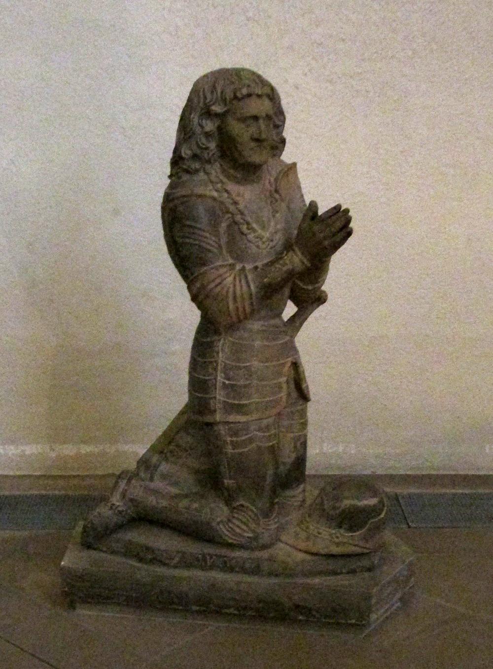 The Praying Knight ,anunattributed portraitof Herman vonSaschsenheim (1430-1508).  Stiftskirche,  Stuttgart.