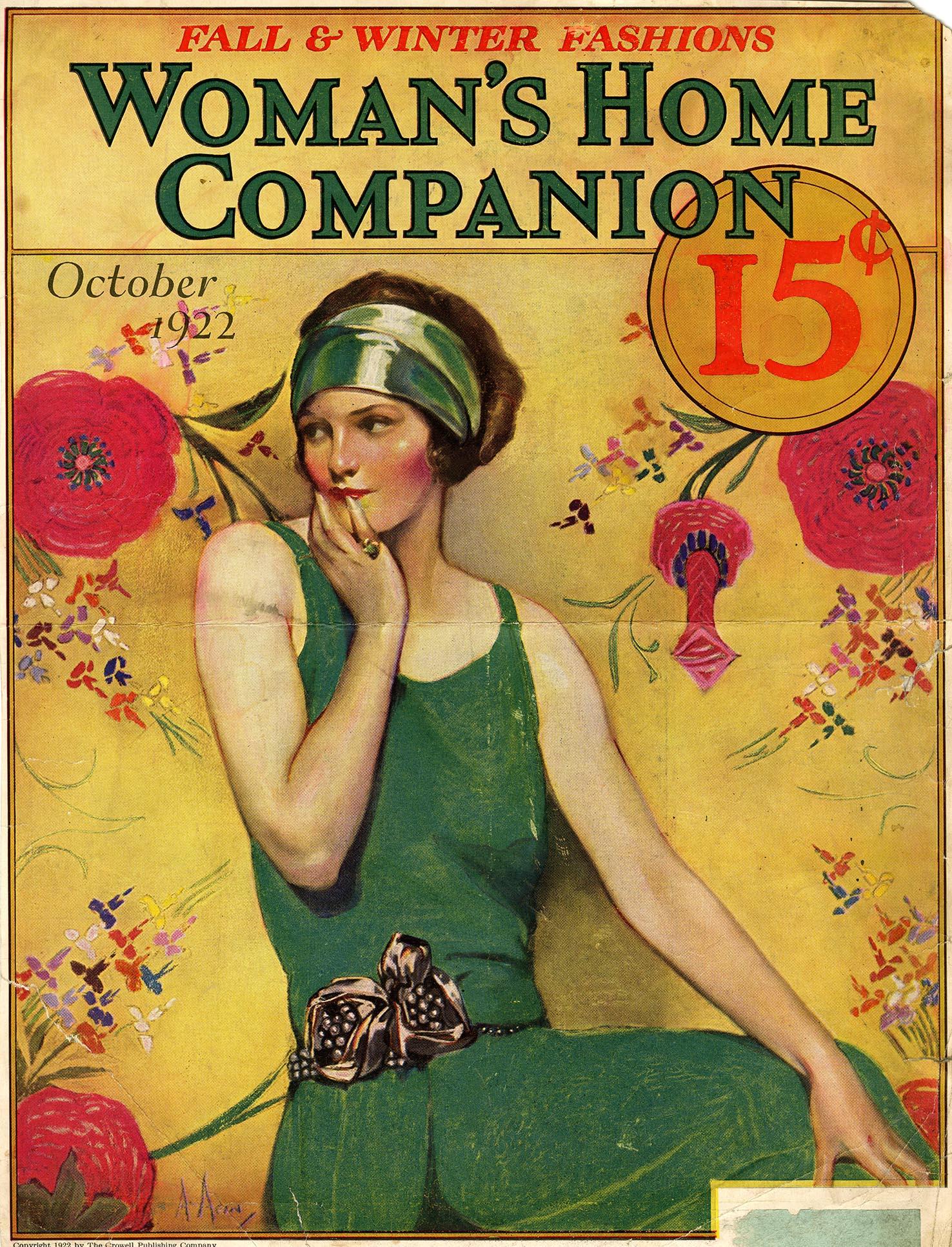 Neysa McMein, cover illustration,  Woman's Home Companion , October 1922. M agazine tear sheet, Walt Reed Illustration Archive, Washington University in St. Louis.