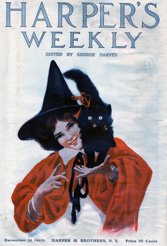 Alice Beard, Cover Illustration. Harper's Weekly Magazine. December 18, 1909.