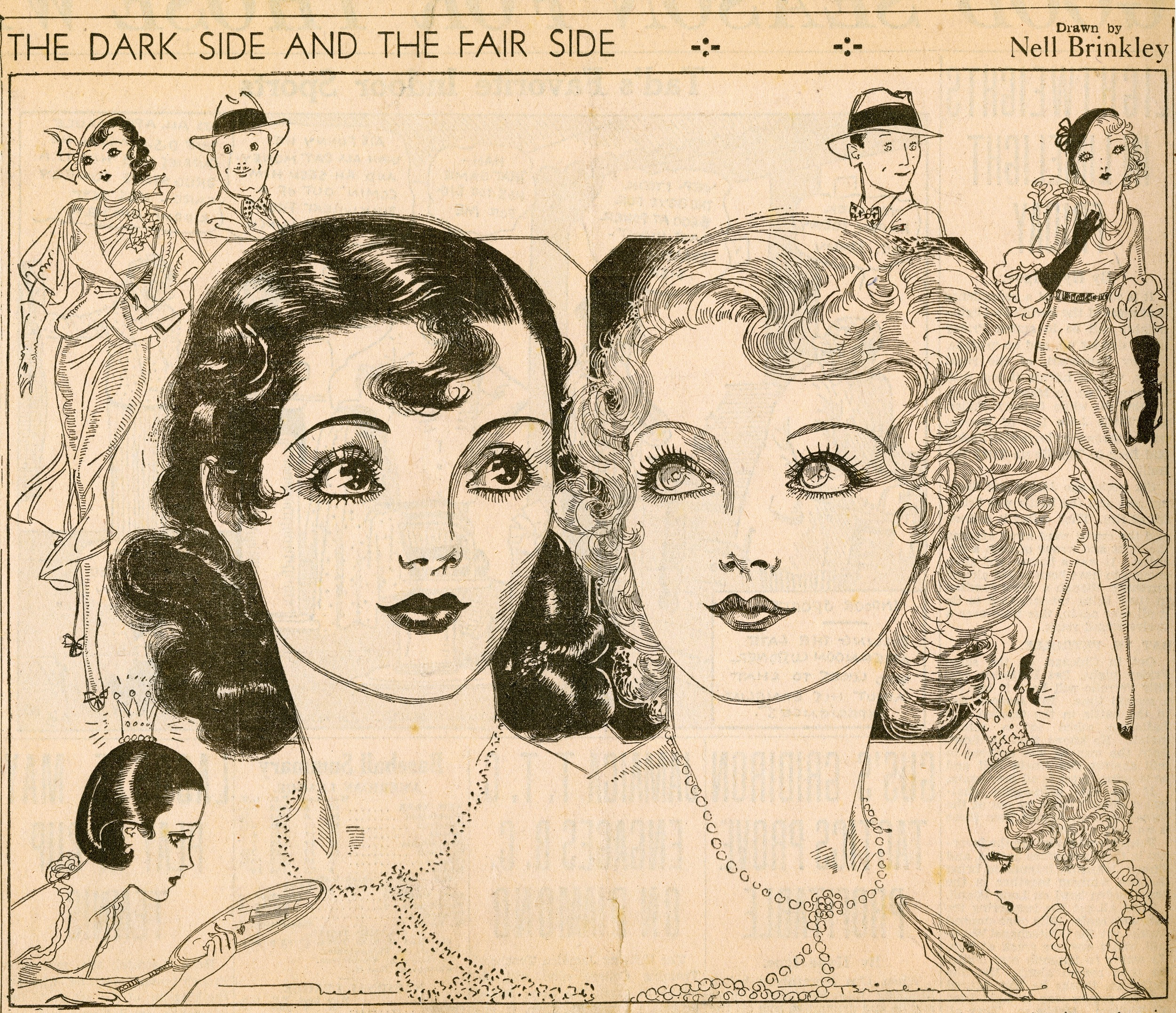 "Nell Brinkley, ""The Dark Side and the Fair Side""."