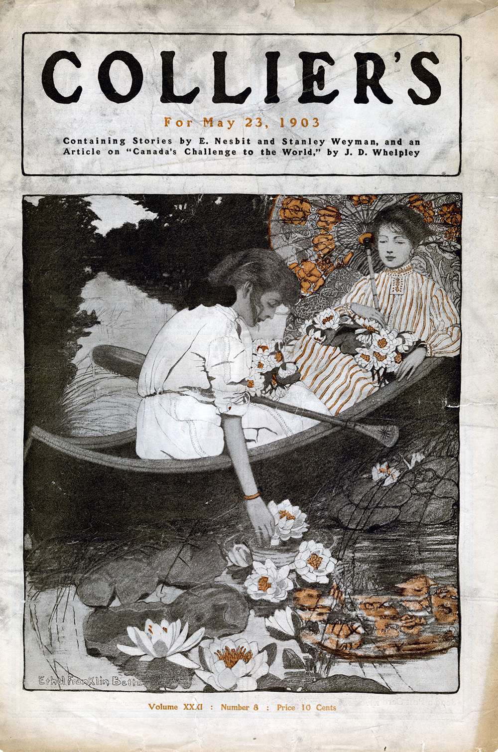 Ethel Franklin Betts,   Cover Illustration for  Collier's Magazine . Volume XXXI, Number 8.May 23, 1903.