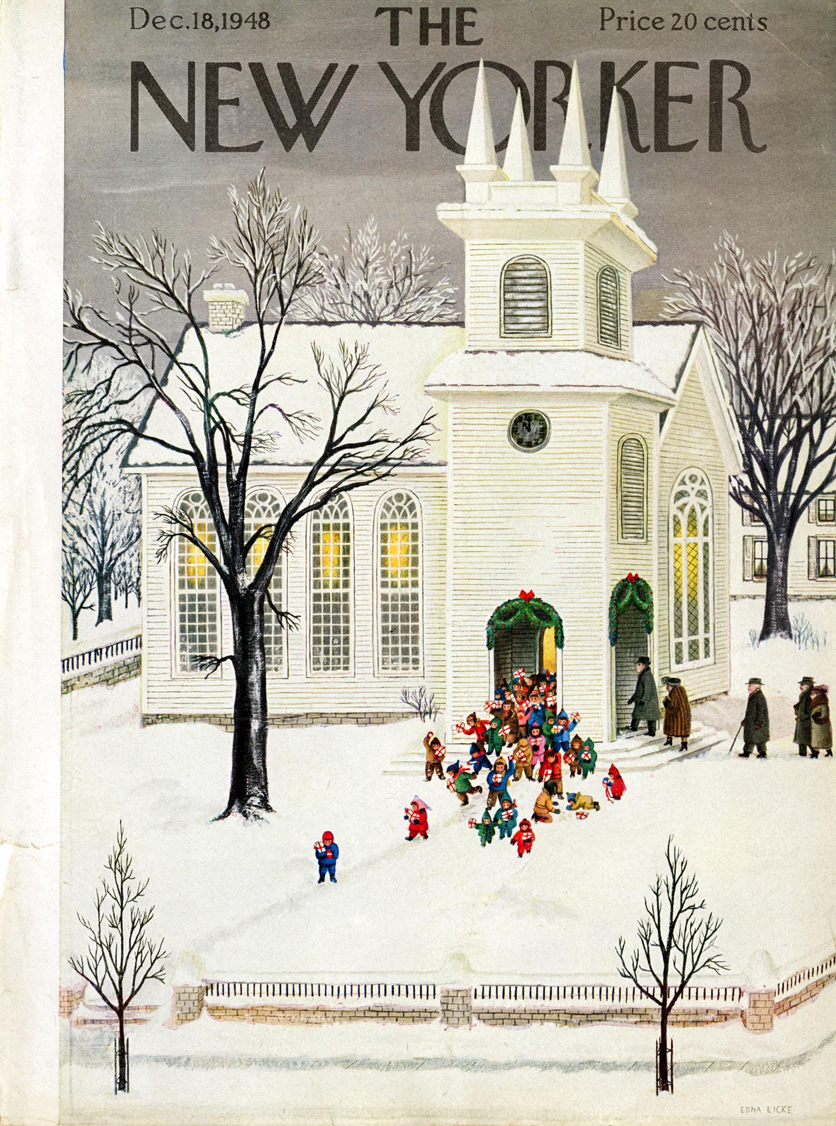 Edna Eicke, Cover Illustration for  The New Yorker . December 18, 1948.