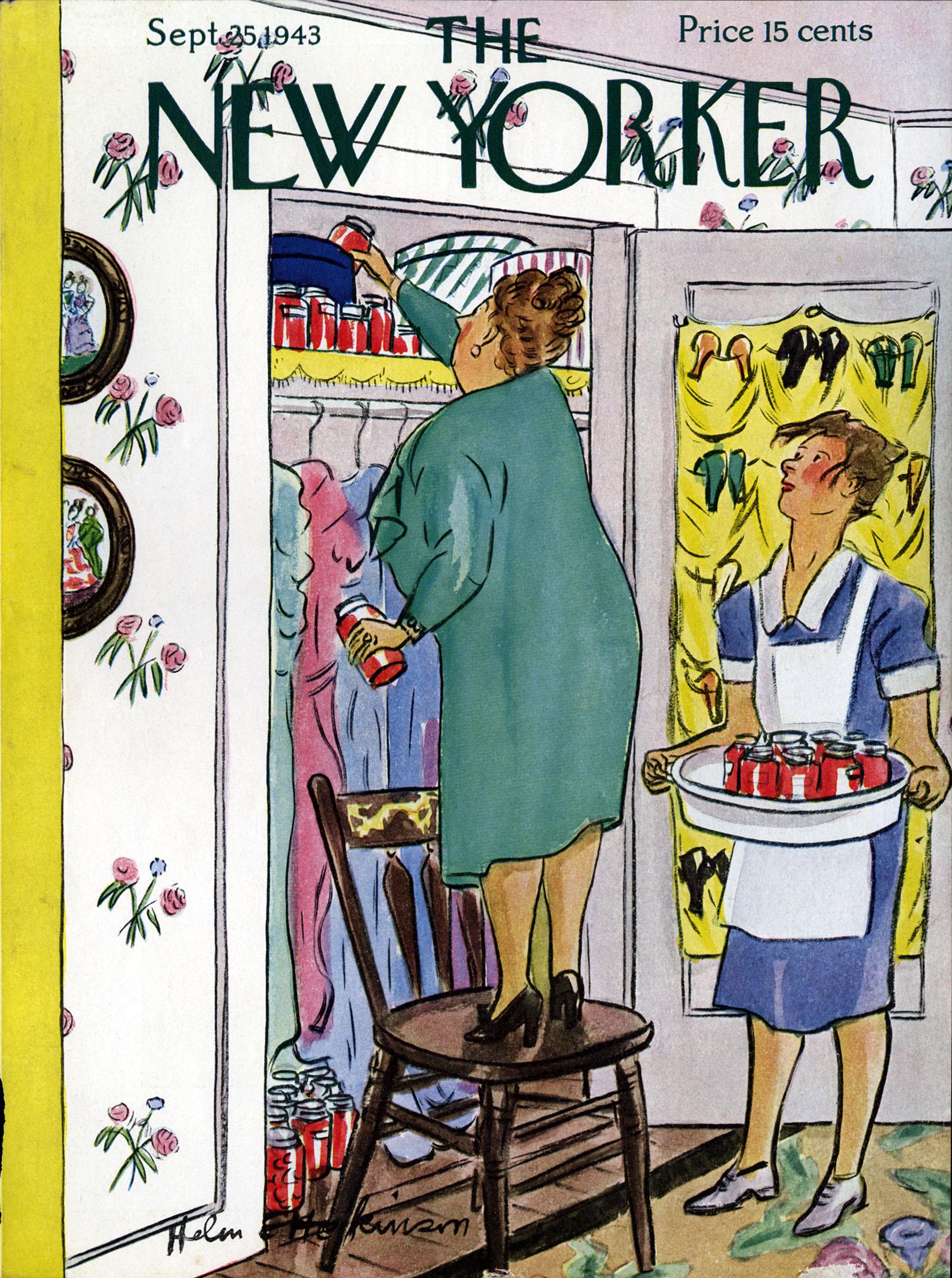 Helen E. Hokinson, Cover Illustration for  The New Yorker . September 25, 1943.
