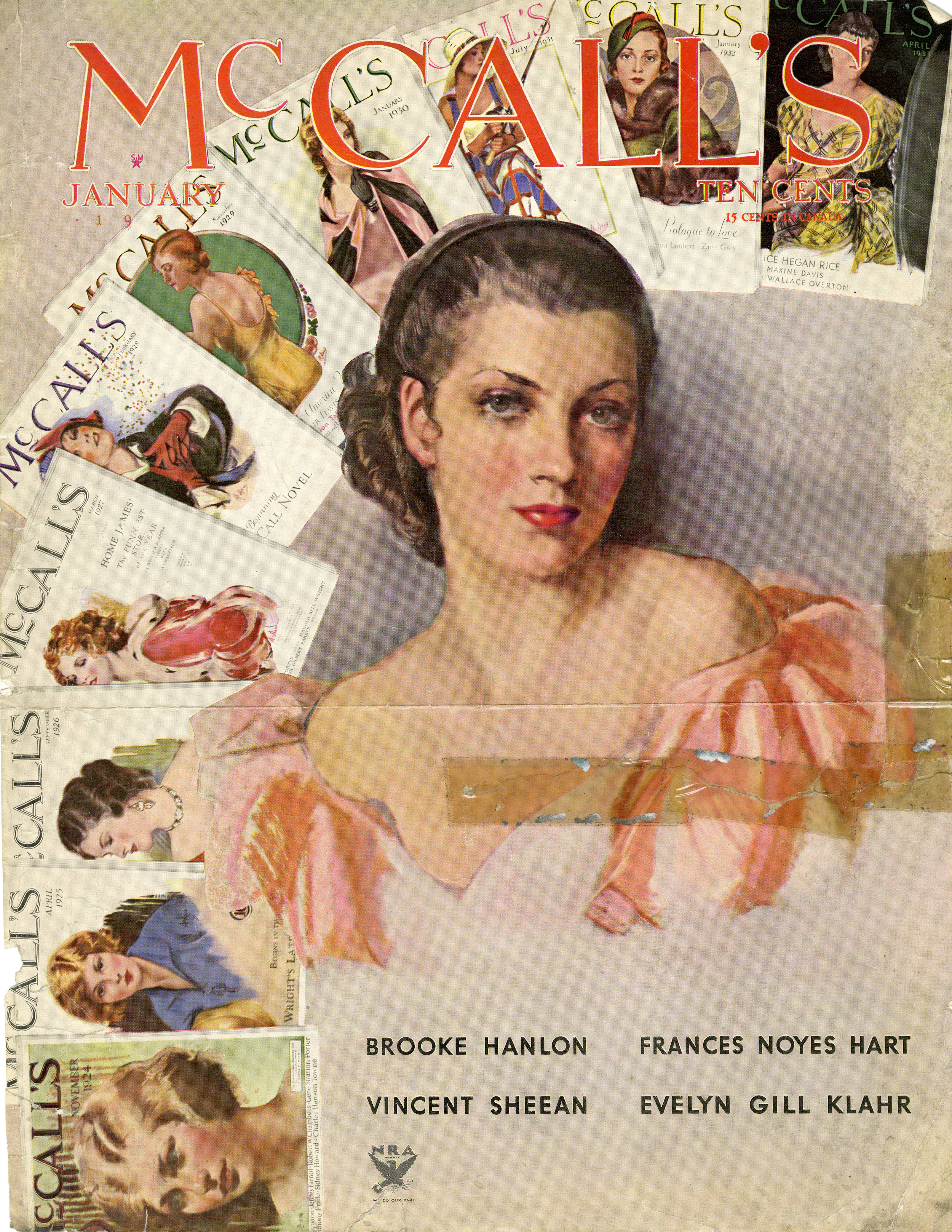 Neysa McMein, Cover Illustration for  McCall's .January 1934.