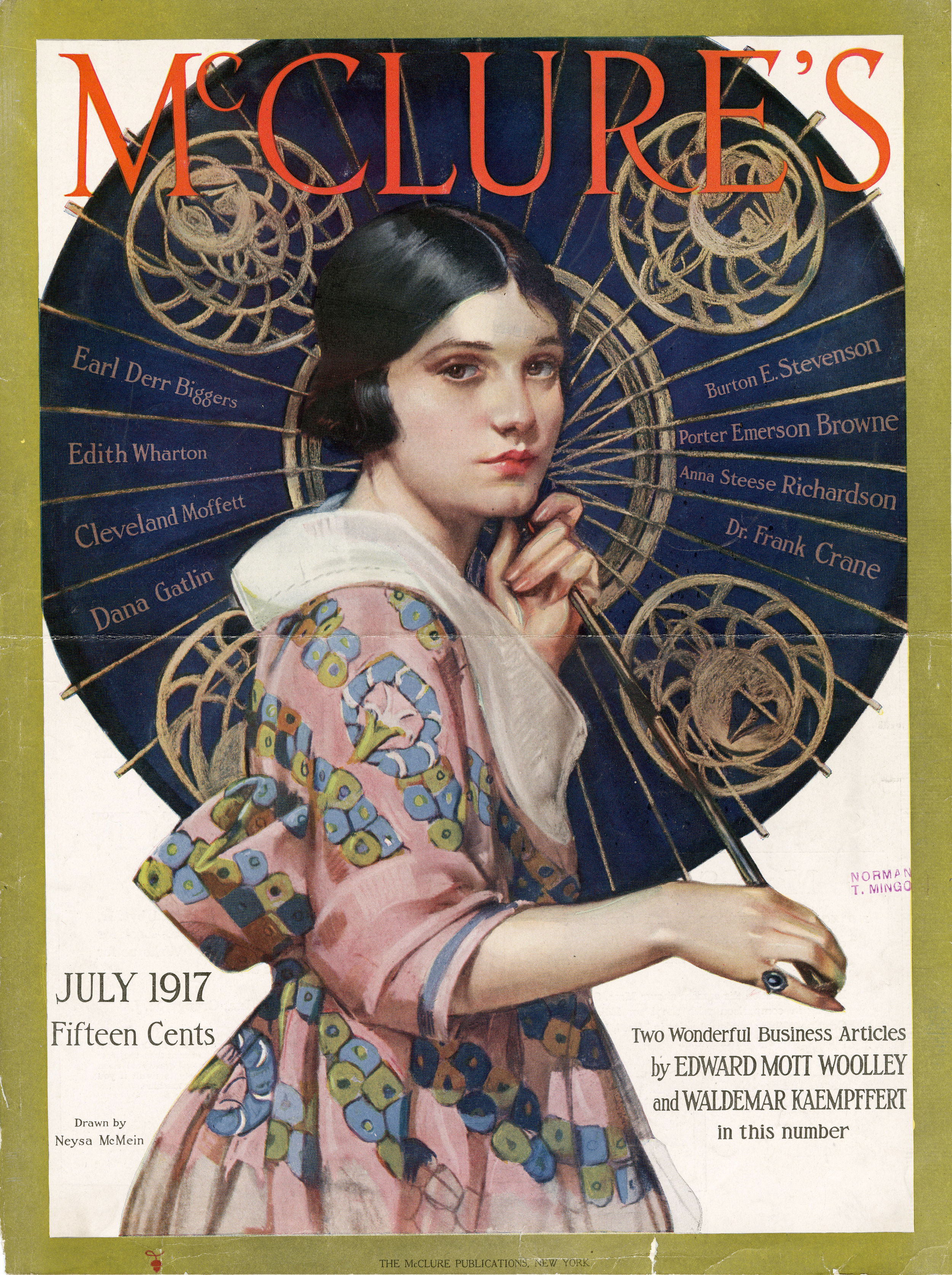 Neysa McMein,   Cover Illustration for  McClure's . July 1917.
