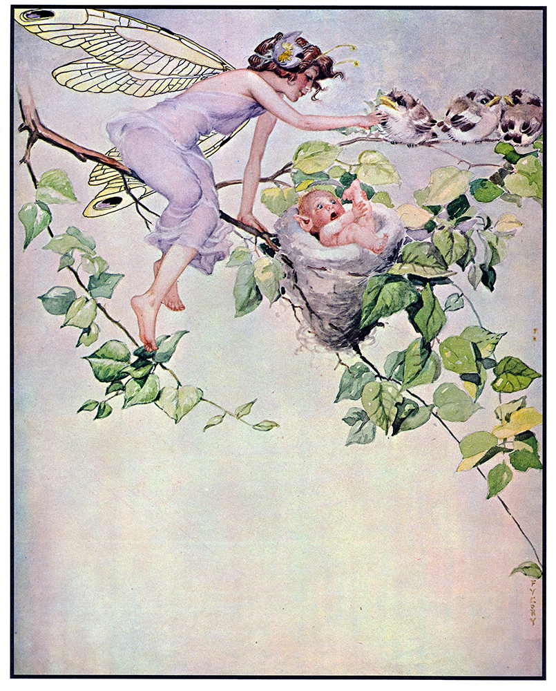 """FY Cory, a piece from  """" Fairy Series """" . Watercolor painting.1930."""