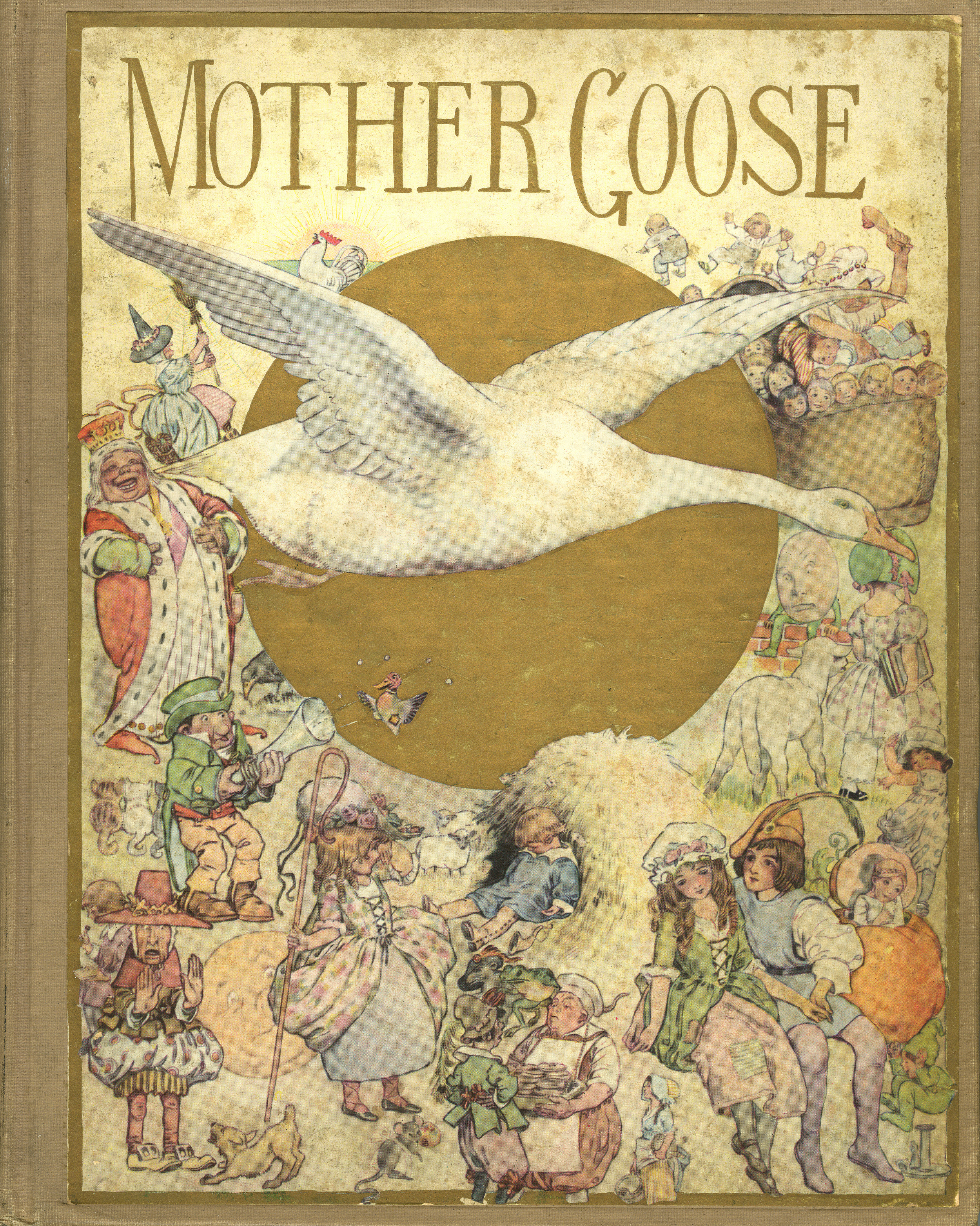 FY Cory, Front Cover for  The Fanny Cory   Mother Goose. Bobs-Merrill Company Publishers. 1913.