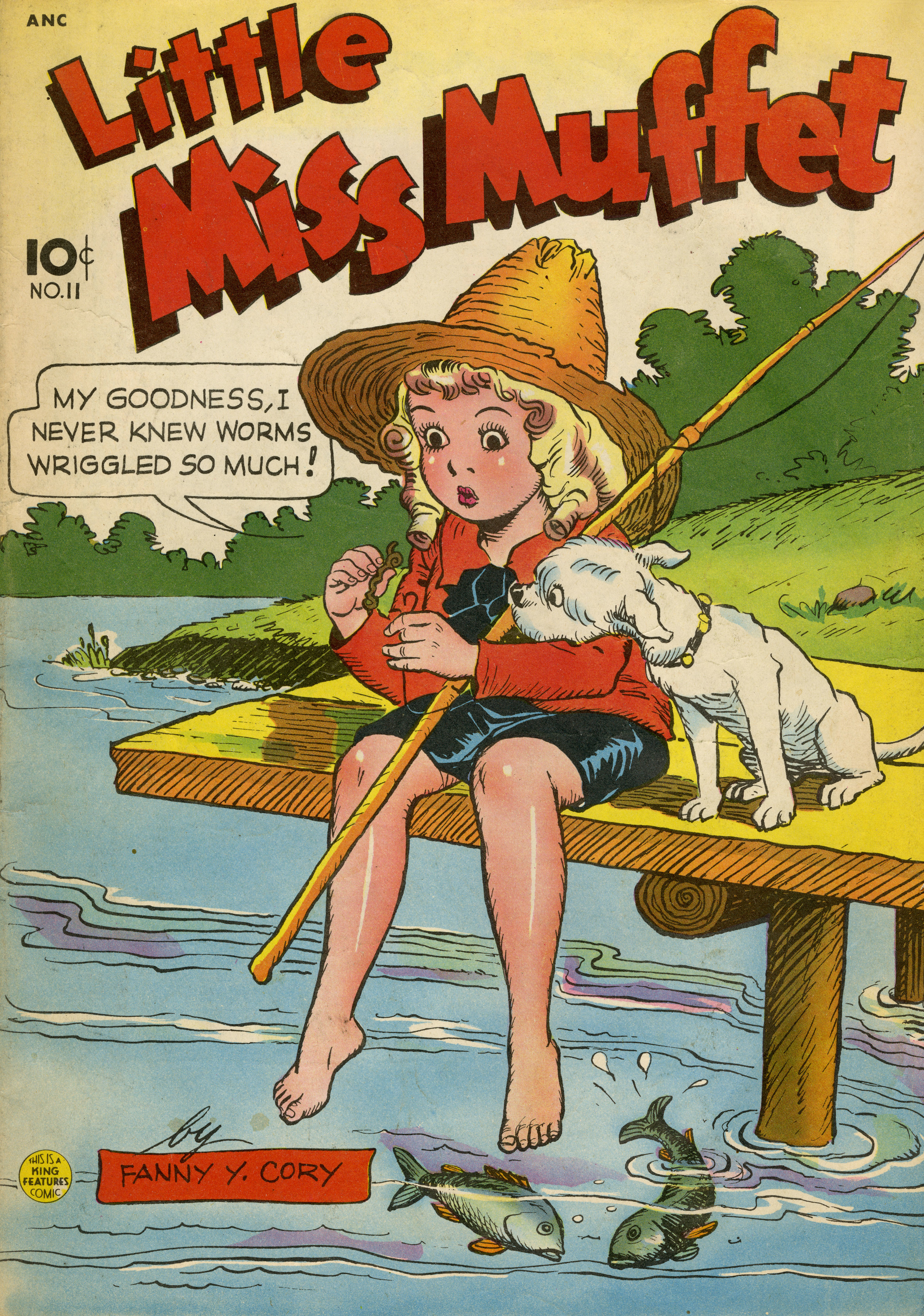 """Fanny Cory, """"Little Miss Muffet""""No. 11.Magazine published quarterly by Best Books, Inc. Copyright 1937, 1938, 1948 by King Features Syndicate, Inc. December 1948."""
